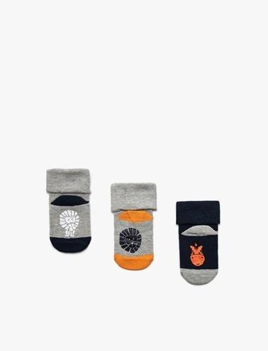 Koton Kids Erkek Bebek 3'lü Çorap Renkli